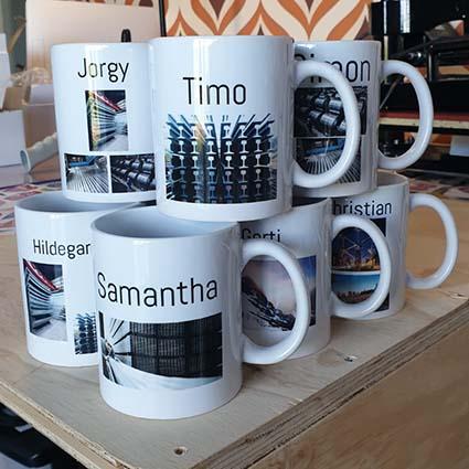koffiemok met tekst